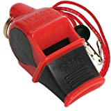 Fox 40 Sonik Blast CMG Safety Whistle with Breakaway Lanyard Multi Red/Black (Color: Red/Black)