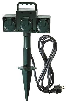 voltman vom530440 piquet de jardin jardin 3 prises ip44 bricolage m256. Black Bedroom Furniture Sets. Home Design Ideas