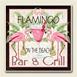 Pink Flamingos Bar and Grill Absorbastone Six Inch Trivet