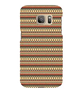 Manipuri Art Pattern 3D Hard Polycarbonate Designer Back Case Cover for Samsung Galaxy S7 :: Samsung Galaxy S7 Duos G930F