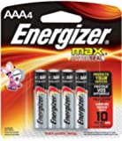 Energizer Max AAA Batteries, 4-Count