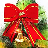 Alcoa Prime New Christmas Festival Bowknot Xmas Tree Hanging Bow Ornament Party Decoration