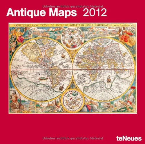 2012 Antique Maps Grid Calendar
