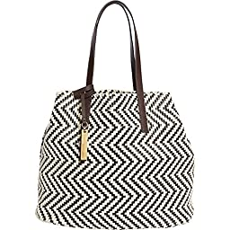 Vince Camuto Dalya Tote (Natural/Dark Brown)