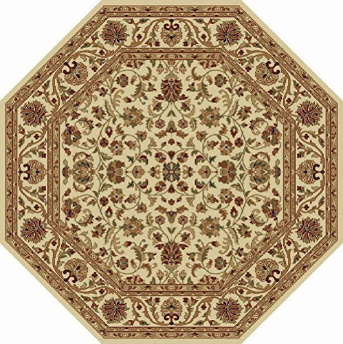 Universal Rugs 4812 Octagon Sensation Transitional Area Rug, 5-Feet 3-Inch, Beige