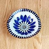 波佐見焼 翔芳窯 ブルーの器 変形鉢 (和食器 / 有田焼) (ブルーフラワー)
