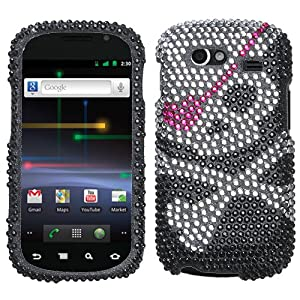 Skull Diamante Protector Faceplate Cover For SAMSUNG NXS(Nexus S), NXS4G(Nexus S 4G)