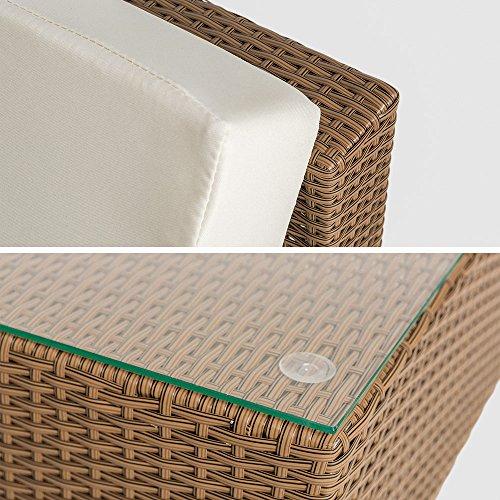 Polyrattan Gartenmöbel Luxus Sofa Set 5060 L Mit Tisch Schwarz [R