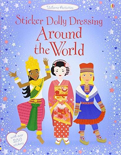 Around the World: Sticker Dolly Dressing (Usborne Sticker Dolly Dressing)