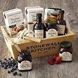 Stonewall Kitchen Berry Breakfast 9 Piece Gift Basket Includes 3 Jams, 2 Syrups, Blueberry Pancake & Waffle Mix, Stainelss Steel Whisk, Blueberry Muffin Mix, and Blueberry Sour Cream Scone Mix