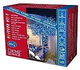 Konstsmide 3610-400 – Guirnalda LED para el árbol de navidad (40 diodos azules, transformador exterior 24 V, 2,4 W, cable negro)