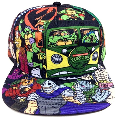 Teenage Mutant Ninja Turtles All Over Print Cartoon Snapback