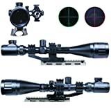 IRON JIA'S 6-24x50 AOEG Riflescopes Green Red Dot & GREEN Laser Sight Combo Reticle Airsoft Holographic Optical Sight Hunting