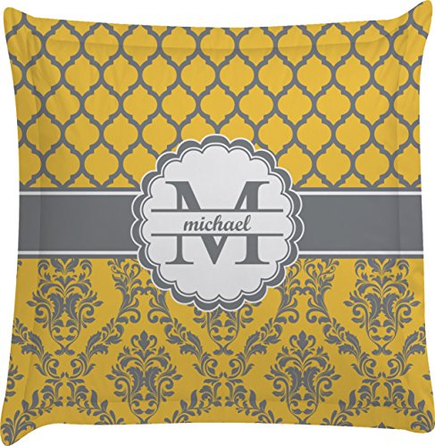 Damask & Moroccan Personalized Euro Sham Pillow Case front-788482