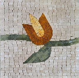 Flower Design Accent Mosaic Marble Stone Art Tiles Wall Floor