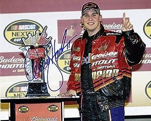 Buy AUTOGRAPHED 2006 Denny Hamlin #11 FedEx BUD SHOOTOUT WIN (Daytona) 8X10 SIGNED NASCAR Glossy Photo w  COA by Trackside Autographs