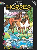 img - for Wild Horses Stained Glass Coloring Book (Dover Nature Stained Glass Coloring Book) book / textbook / text book