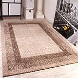 Modern Designer Carpet -Winchester- Modern Rug in Cream Light Beige, Size:160x230 cm