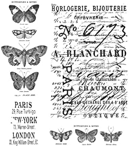 Tim Holtz 7 x 8.5-inch Cling Rubber Stamp Set Papillon
