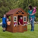 Wooden Playhouse Timberlake Cedar cute half-door w/ Play accessories