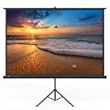 Projector Screen, TaoTronics Indoor and Outdoor Movie Screen 120 Inch Diagonal 4:3 with a Premium PVC Matte Design (Wrinkle-Free, Easy to Clean, 1.1 Gain, 160 Degree Viewing Angle)