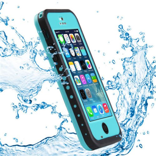 Pioneer Tech® Newest Waterproof Shockproof Dirt Snow Proof Durable Case Cover For Apple Iphone 5C (Cyan)