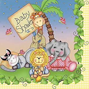 Nighty Night Bazooples Baby Shower Lunch Napkins 16pk
