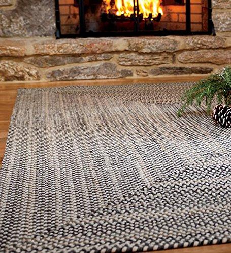 7' x 9' American-Made Bear Creek Rectangular Braided Wool And Nylon Blend Rug