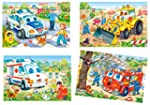 4 tlg. Set: Mini Puzzle / Minipuzzle...