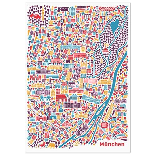 vianina-poster-con-el-mapa-de-munich-70-x-100-cm-incluye-hofbrauhaus-marienplatz-frauenkirche-viktua