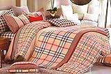 WRAP 100% COTTON DOUBLE BED DUVET SET (1 BEDSHEET 2 PILLOW COVERS & 1 DUVET COVER) CNSD-02