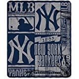 Northwest NOR-1MLB031020020RET 50 x 60 in. New York Yankees MLB Light Weight Fleece Blanket, Strength Series