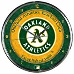 MLB Oakland Athletics Chrome Clock