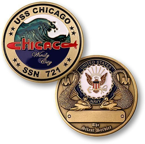 USS Chicago Submarine Challenge Coin