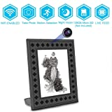 WiFi Fashion Photo Frame Hidden Wireless Camera,720P Wireless Night Vision Motion Activated Home Security Camera Nanny Cam Video Recorder Covert WiFi with 1 Years Standby