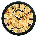 MeSleep London Brown Wall Clock (With Glass)