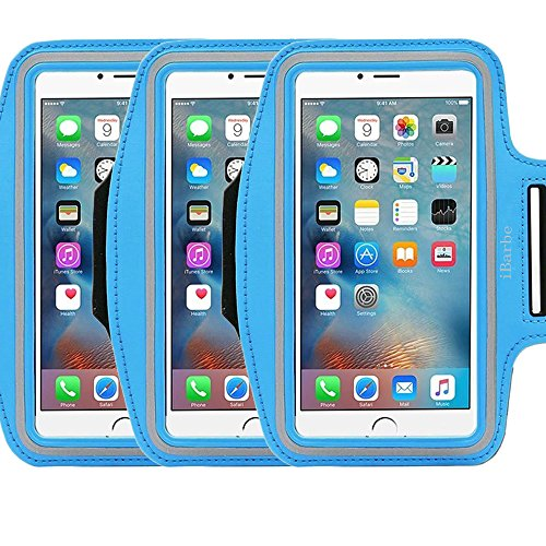 3Pack Armband Exercise Sports Easy iBarbe Fitting Slim Scratch-Resistant Running Water Resistant Key Holder Slot For Phone up to 5.5 inch Screen Men Women Sweat-Resistant Design not for iphone 4 4s (Magic Color Twist Loom compare prices)