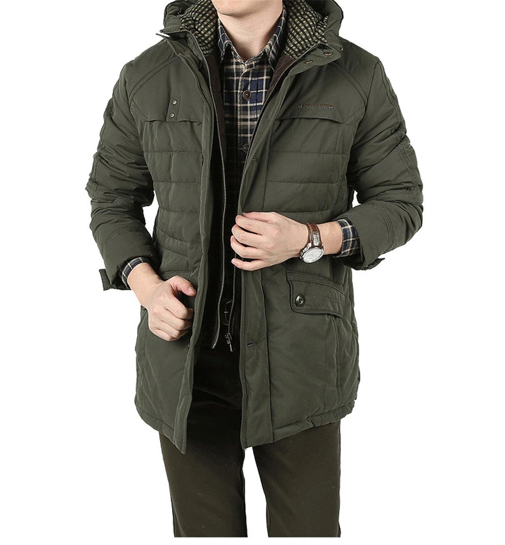 BININBOX® Herren Verdickung Wintermantel Baumwoll-Bekleidung mit Kapuze Wintermantel