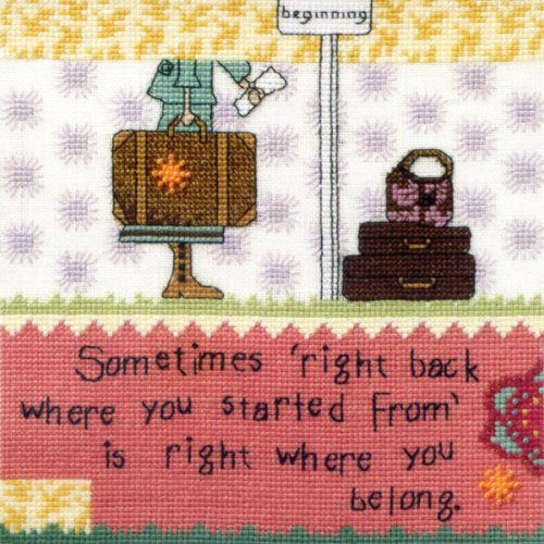 Right Back - Beaded Cross Stitch Kit - Curly Girl Designs Cg302103