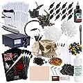 Rehab Ink Complete Tattoo Set w/ 2 Guns, Power Supply, Starbrite Ink, Skull Ink Holder & More