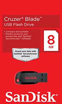 SanDisk Cruzer Blade 8GB USB 2.0 Flash Drive