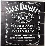 Jack Daniels Wood Wall Art, 5 Stars Gift 19.69 x 19.69 inch Startonight
