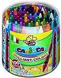 100 Wachsmalstifte in 30 Farben - Wachsmaler auswaschbar, Ø 8mm L 90mm, in Kunststoffdose von Piccolino