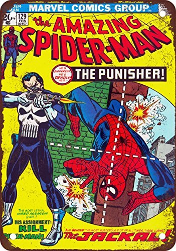 amazing-spider-man-129-look-vintage-riproduzione-in-metallo-tin-sign-305-x-457-cm