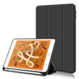 Kenke ipad 9.7 2018/2017 Case with Pencil Holder,Auto Wake/Sleep Smart Cover with Trifolding Stand,Shockproof Soft TPU Back Cover for ipad 9.7 inch 6th/5th Generation,Black (Color: Black, Tamaño: 9.7inch)