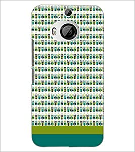 PrintDhaba Owl pattern D-1863 Back Case Cover for HTC ONE M9 PLUS (Multi-Coloured)