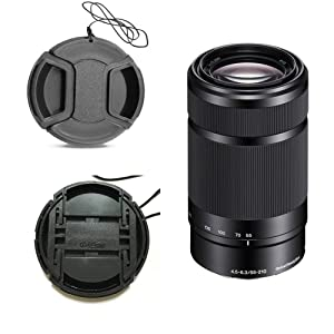 Fire-Rock 49mm Snap-On Front Lens Cap Cover Compatible for Canon M50 M100 With EF-M 15-45mm IS STM Lens / Sony RX1R NEX-7 With E 55-210mm SEL 18-55mm 35mm/f 1.8 Lens (2 PCS)