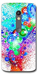 SEI HEI KI Designer Back cover for Motorola Moto X Play-Multicolor