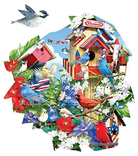 Birdhouse Celebration Shaped 1000 Piece Jigsaw Puzzle by Sunsout Inc.