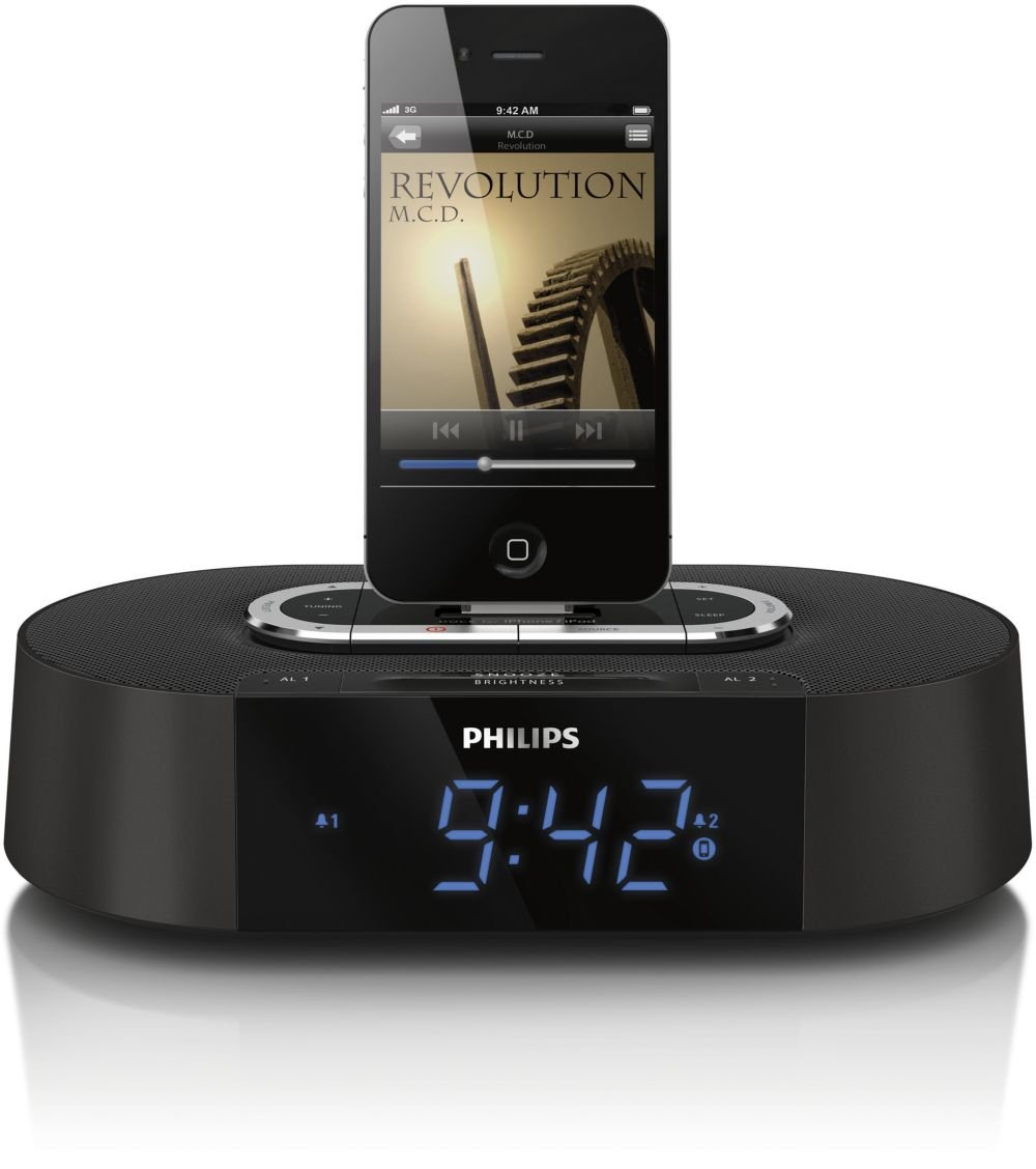 Philips Alarm Clock Radio 30-Pin Speaker Dock